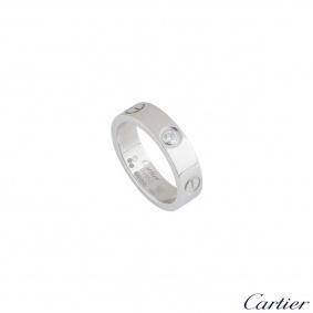 Cartier Platinum Diamond Love Ring B4046757